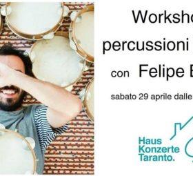 Workshop di percussioni brasiliane con Felipe Bastos @HausKonzerte