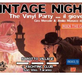 Vintage Night il giovedì al Barotto Village