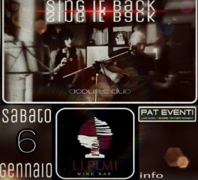 Sing it back Acoustic duo @Li Pumi wine bar - Grottaglie - Taranto