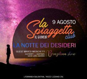 La Notte dei Desideri @La Spiaggetta Club by night